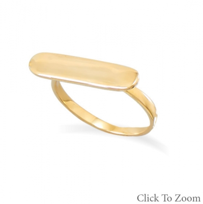 GOLD BAR RING BY BLK AND NOIR