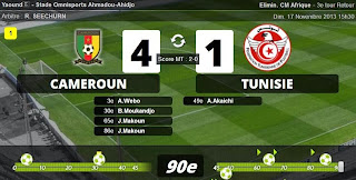 Cameroun - Tunisie  match en direct (4-1) - Cm 2014