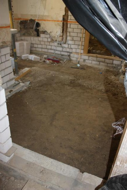 Uns hus ein bericht ber die renovierung eines for Boden nivellieren
