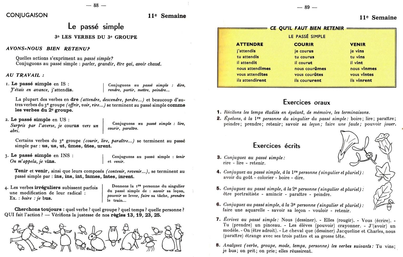 Manuels anciens berthou grammaire conjugaison for Peindre a l imparfait