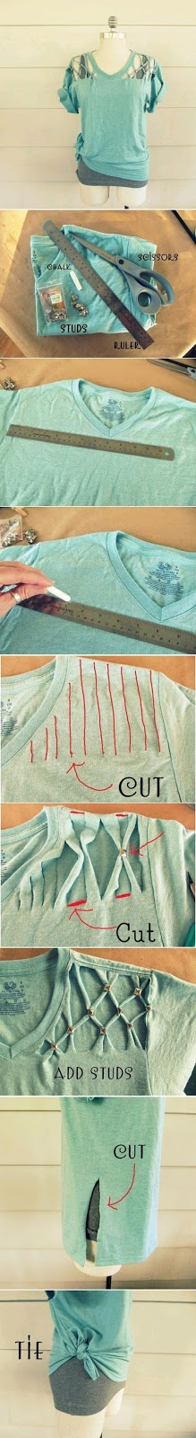 How to make a new stylish shirt from your old shirt