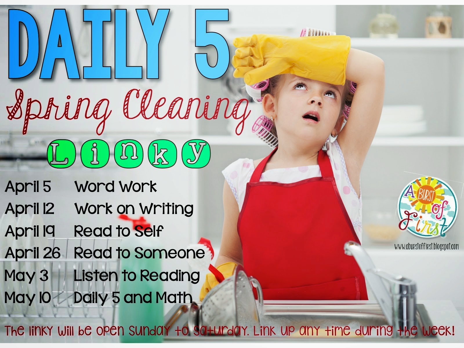 daily five spring cleaning work on writing a burst of first