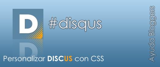 Personalizar Disqus con CSS