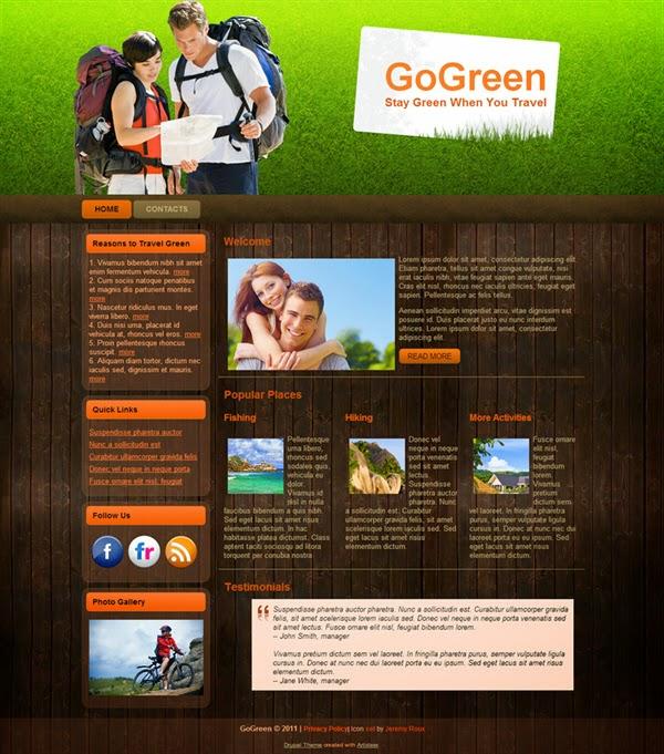 Go Green - Free Drupal Theme