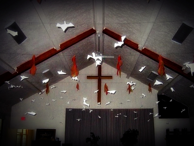 Why is it that the only time we decorate the sanctuary is for...