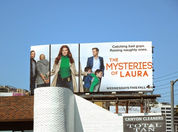 Mysteries of Laura series launch billboard