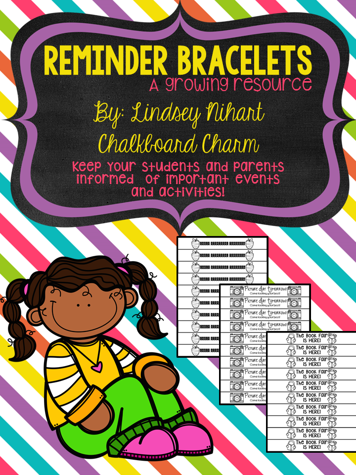 https://www.teacherspayteachers.com/Product/Reminder-Bracelets-A-Growing-Resource-1734326