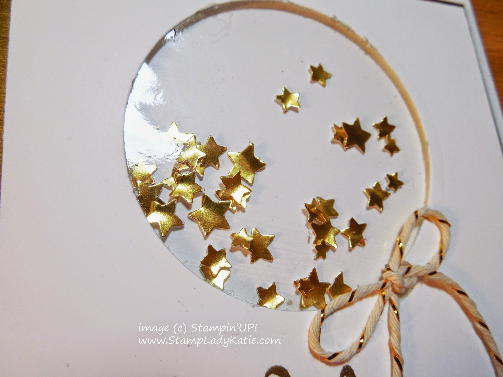 Shaker Card made with Stampin'UP!'s Confetti Stars Border Punch