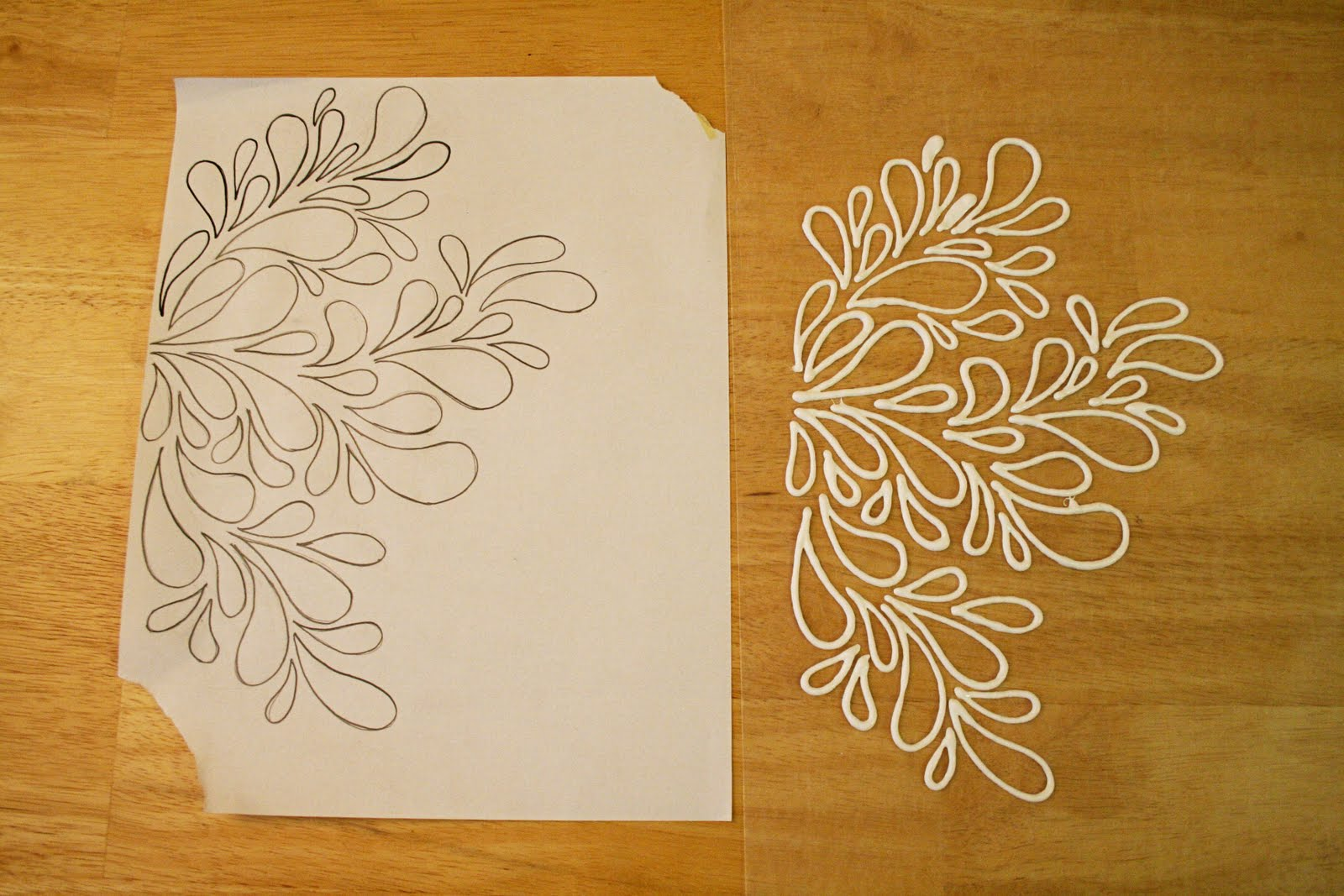 Puffy paint designs - I Drew My Own Pattern And Then Used Puffy Paint On Top Of Wax Paper To Draw It Out