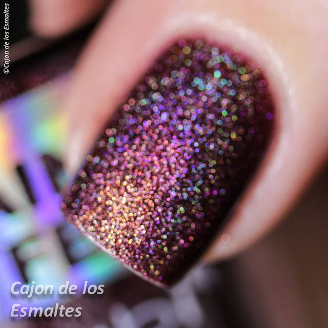 esmalte Holografico - Nabi 3d Rainbow - Tawny