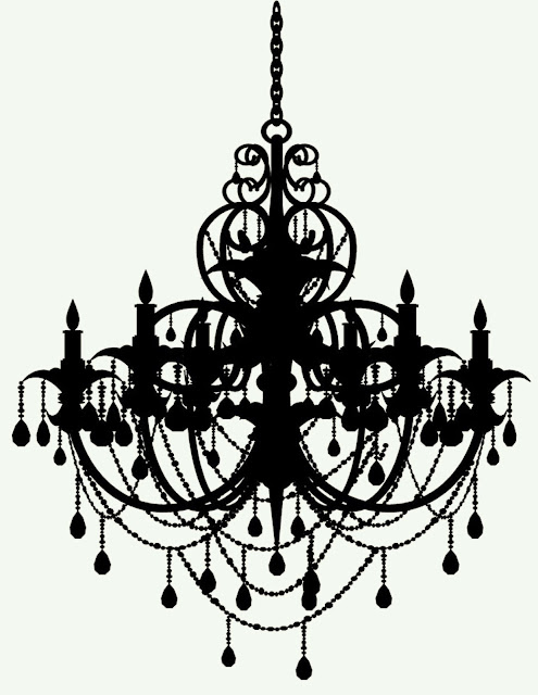 Doodlecraft: Freebies Week: Chandelier Silhouettes!