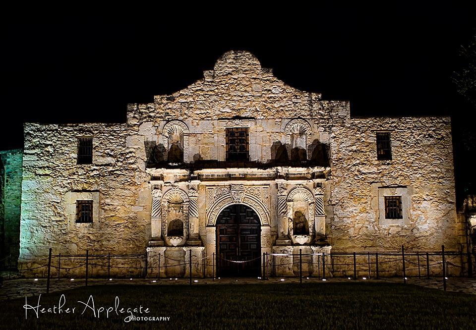 The Alamo at Night by Heather Applegate