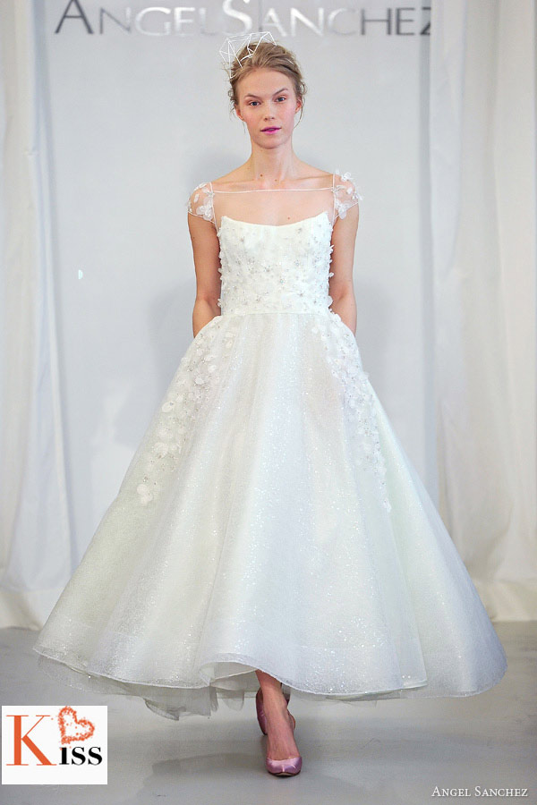 2014 Short Wedding Dresses From Angel Sanchez