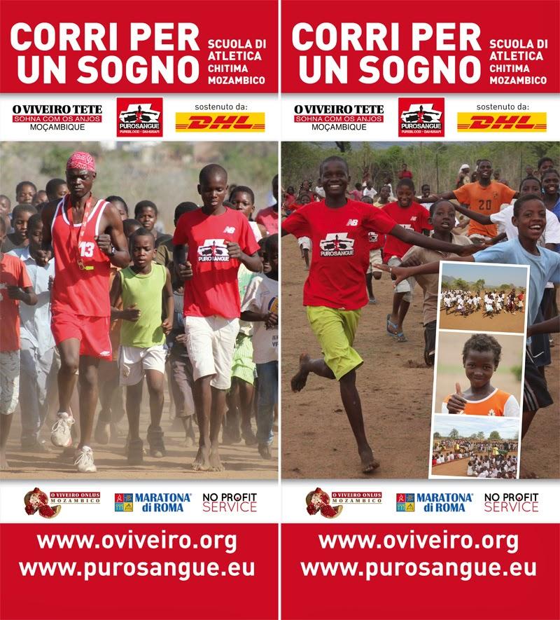 Ragazzi africani si allenano per partecipare alla Maratona di Roma