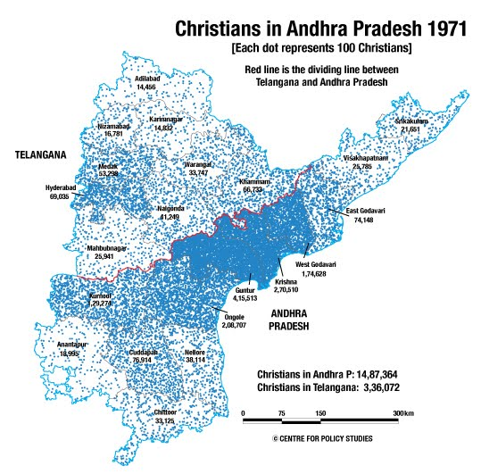 Centre For Policy Studies Religion Data Of Census XXIII - Christianity population 2016