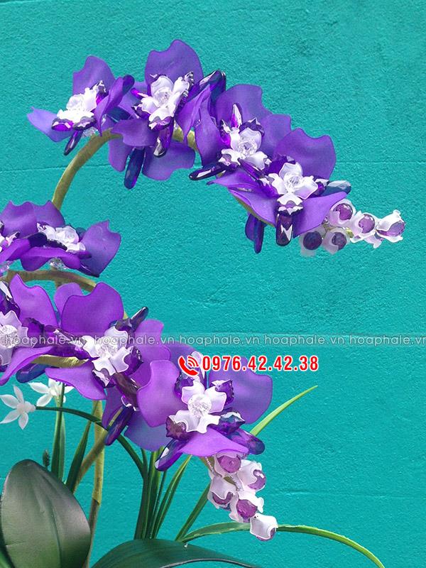 Nguyên liệu làm hoa pha lê phong lan tím