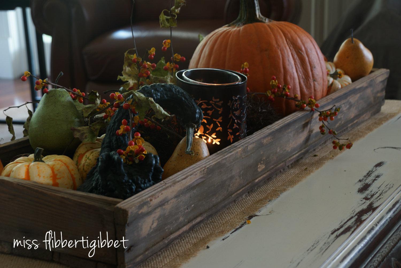 rustic fall table centerpiece miss flibbertigibbet