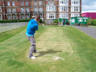 Mini Golf Grass Putting Course at West Marina Gardens in St Leonards, East Sussex