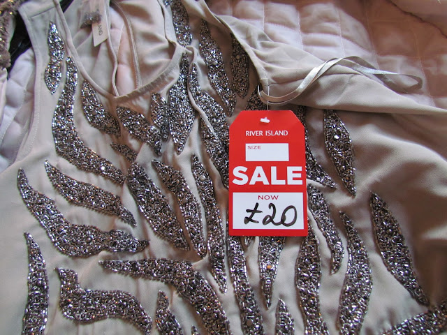 Beaded dress, sale bargain from River Island in January sales