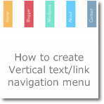 How to create Vertical text/link navigation menu