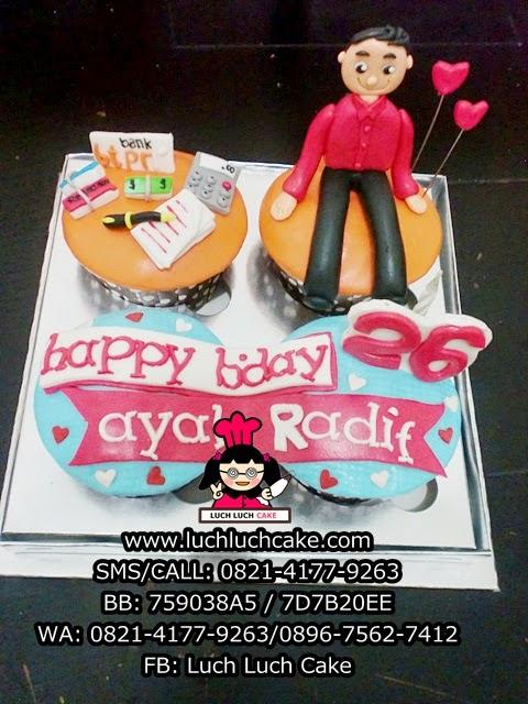 Cupcake Tema Bank BTPN Dearah Surabaya - Sidoarjo