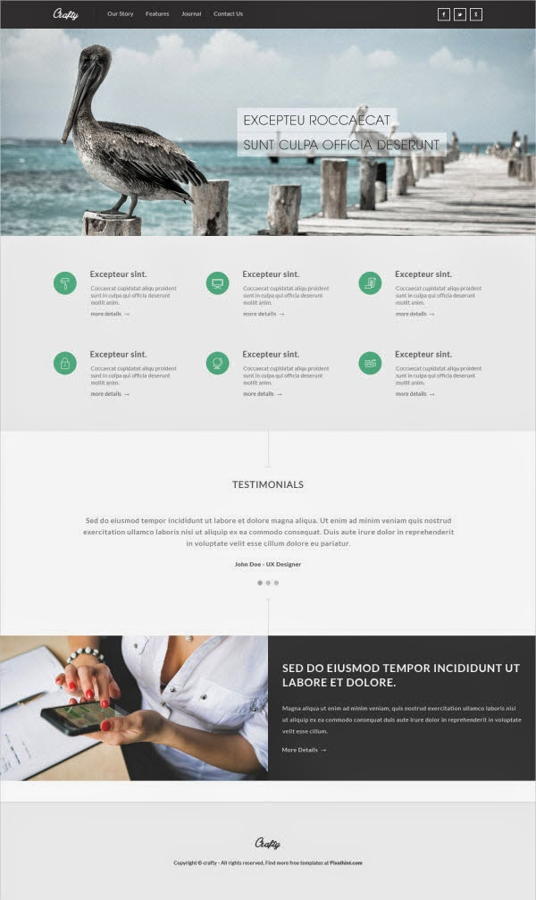 Crafty – Free PSD Template