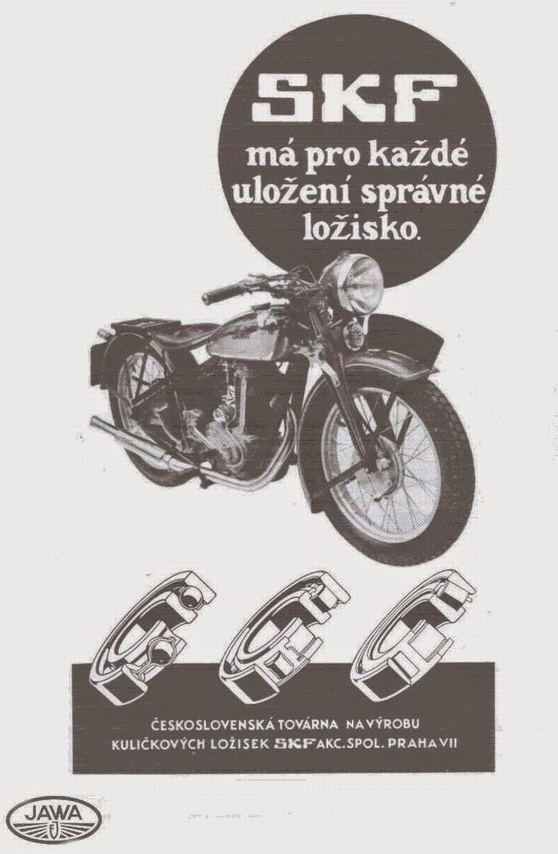 Reklama użytych w Jawie łożysk