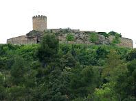 El Castell de Talamanca des del Torrent de la Font dels Pets