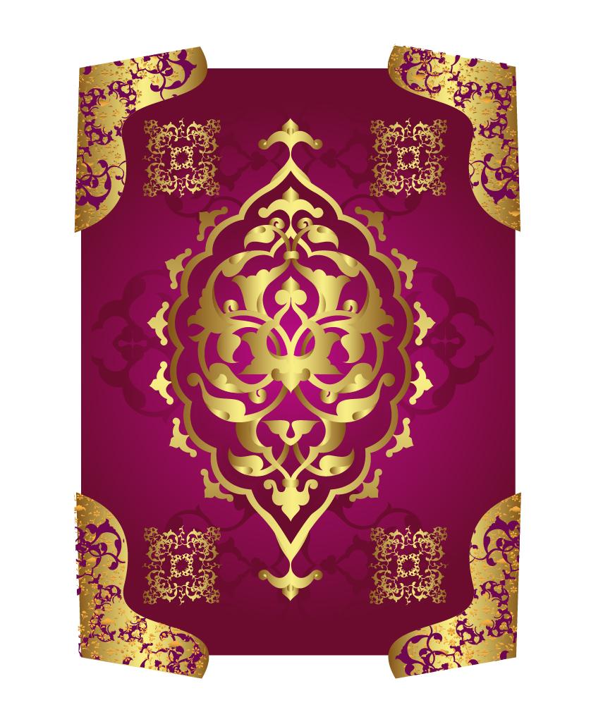 金色の縁取りが美しい古典的な中華パターン classic gold china pattern イラスト素材