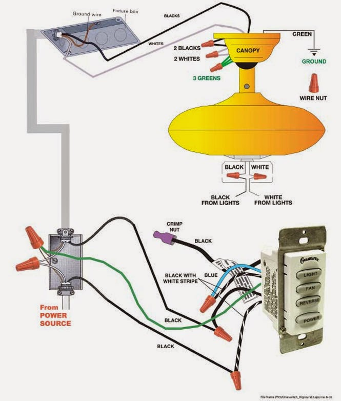 Wiring Diagram Ceiling Installing A Fan