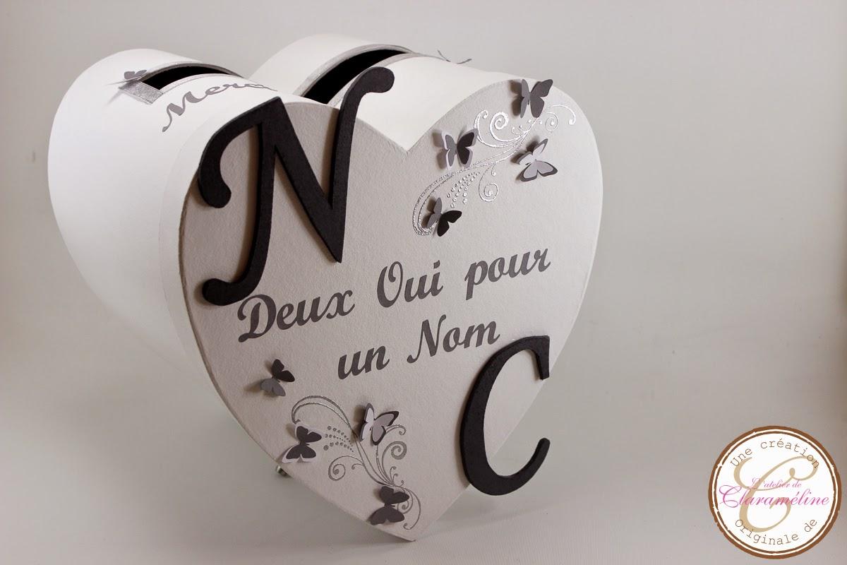 urne de mariage coeur sur le th me des papillons l 39 atelier de claram line. Black Bedroom Furniture Sets. Home Design Ideas