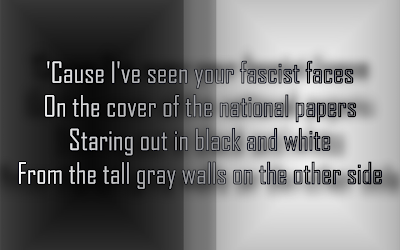 Fascist Faces - Elton John Song Lyric Quote in Text Image