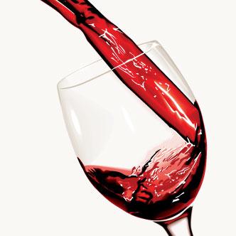 copa y vino en formato vectorial