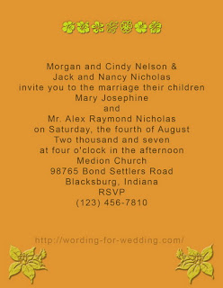 Informal Wedding Invitation by Bride and Groom Parent Image