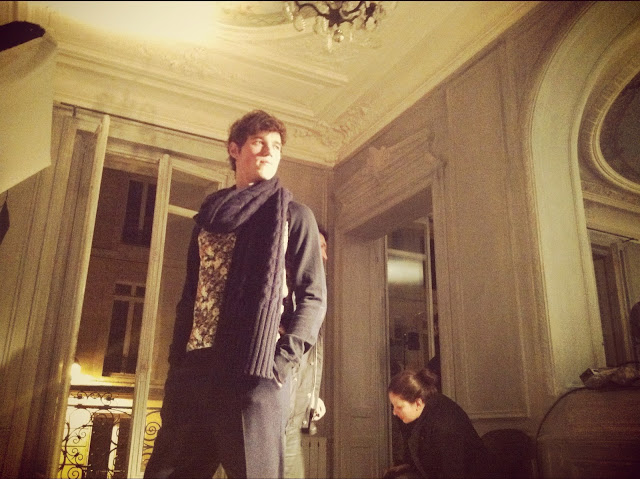Antoine Renouf (Ford Models) AMI ALEXANDRE MATTIUSSI AUTUMN WINTER 2012 PARIS FASHION WEEK