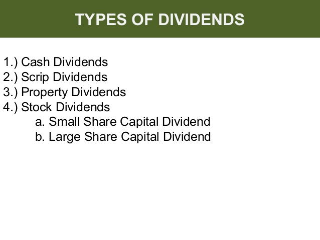 Dividend payments on stock options