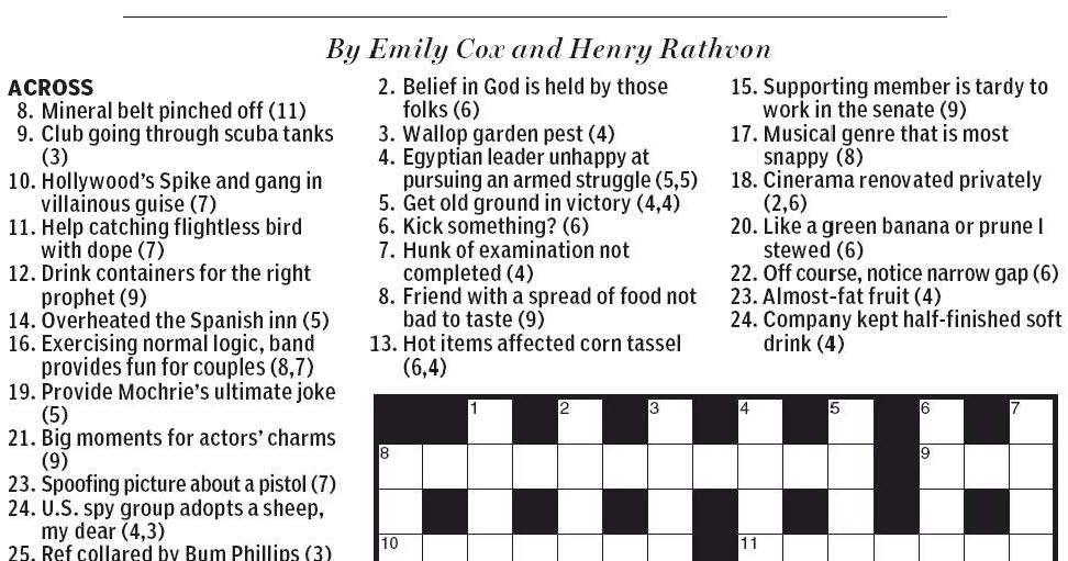 Flightless Bird Crossword  Letters