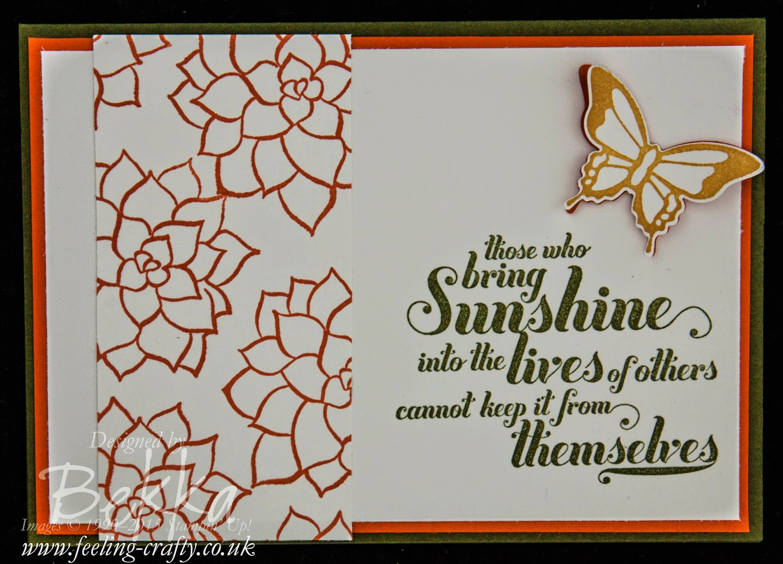 Card with the Nature's Perfection Stamp Set - find out how to get yours here