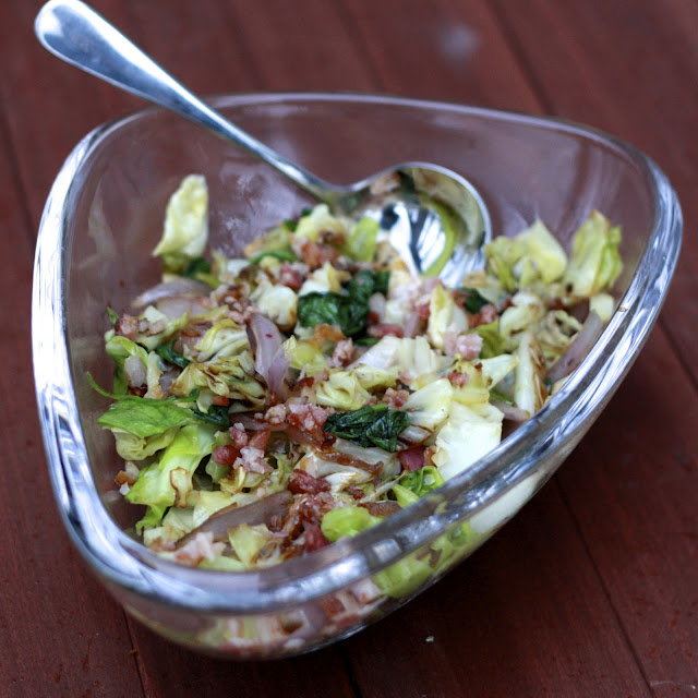 Sautéed Cabbage with Red Onions and Bacon