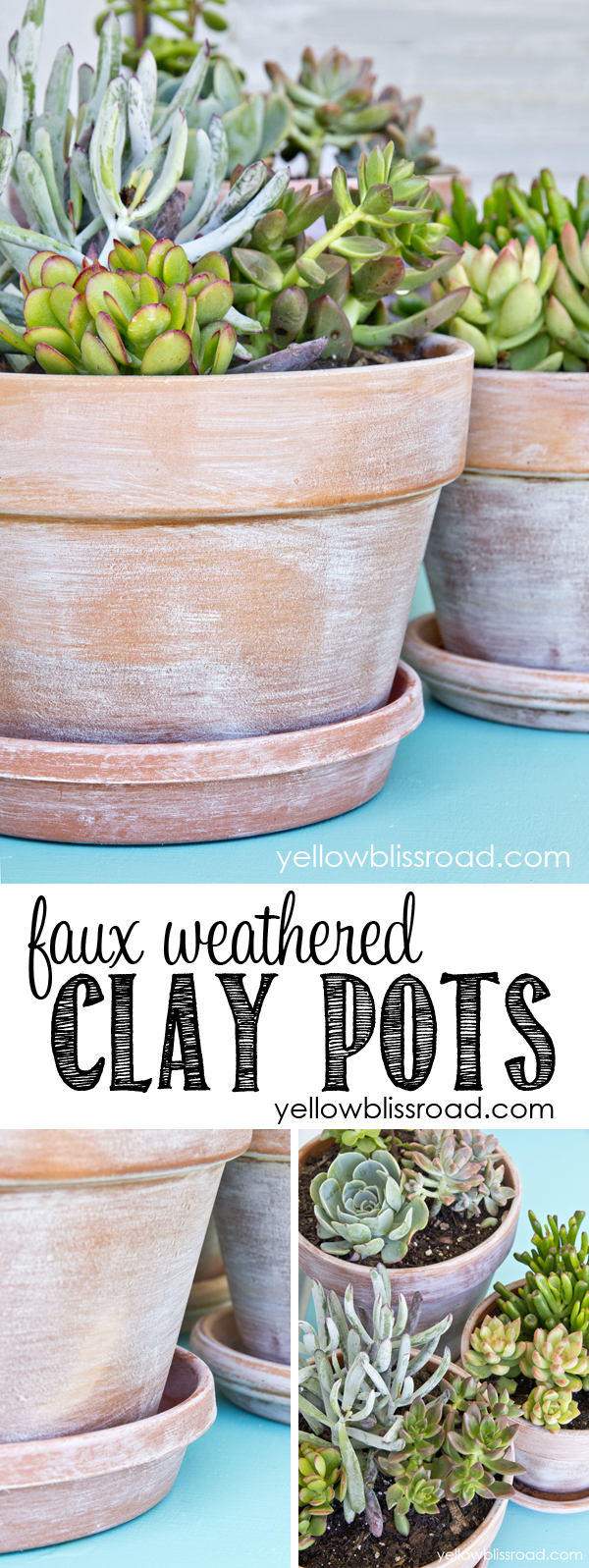 How to Create a Faux Weathered Look for Clay / Terra Cotta Pots (works on plastic too!)