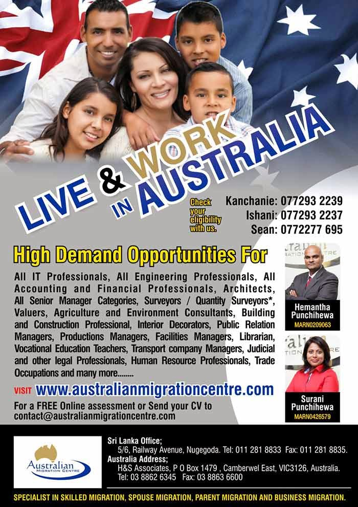 The core business of the Australian Migration Centre (AMC) is facilitating migration, specializing in Australian PR migration services thereby assisting a vast number of families to successfully relocate to Australia on various types of visas.