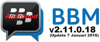 Fitur Terbaru BBM Official Versi 2.11.0.18 Apk (Update 7 Januari 2016)