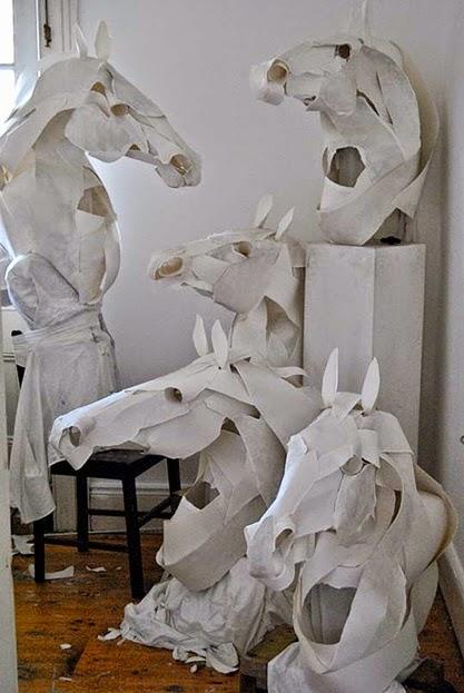 Papel, Esculturas, Hermes