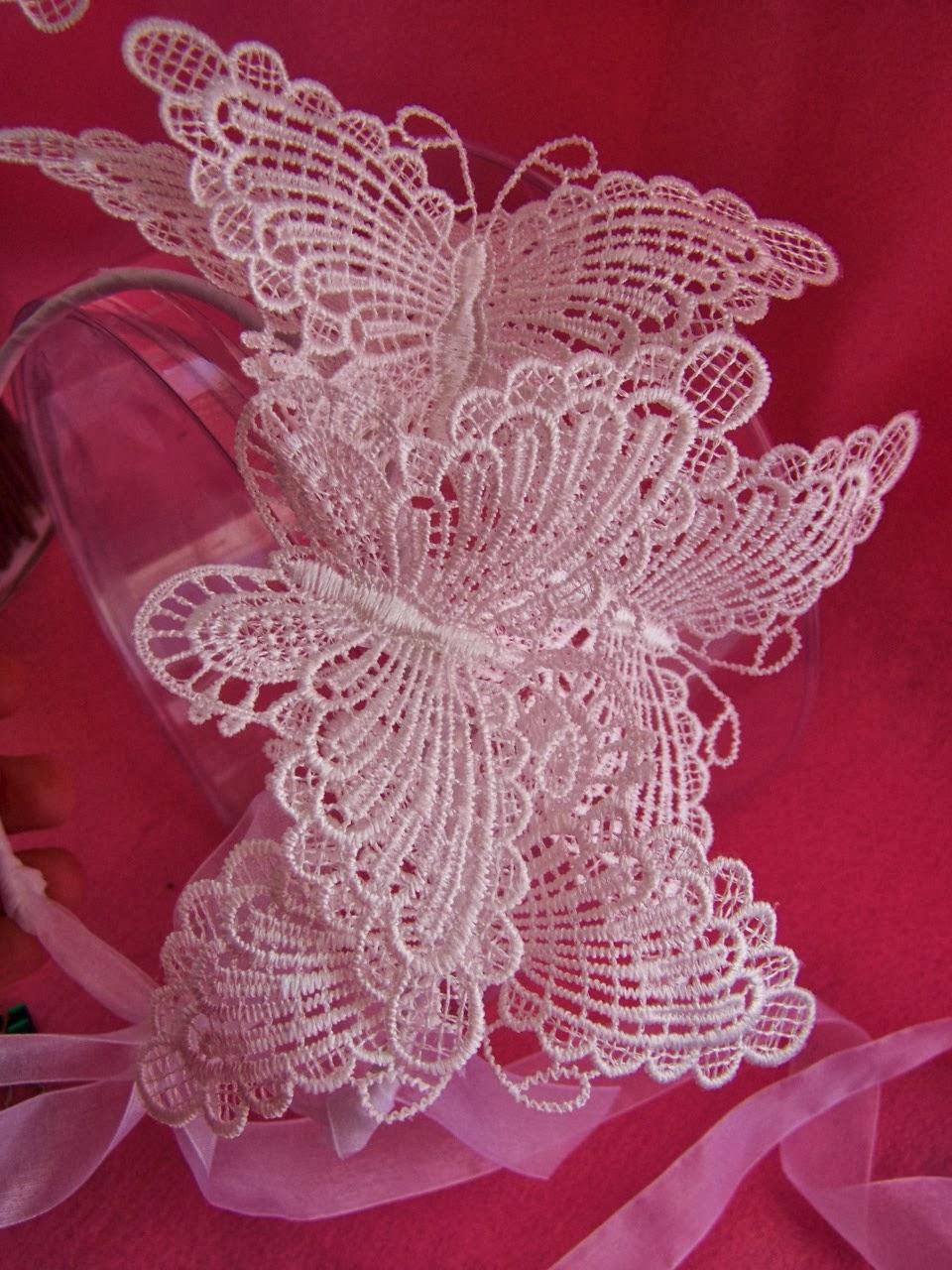 Figuras personalizadas boda y ramos de mariposas para - Diademas de encaje ...