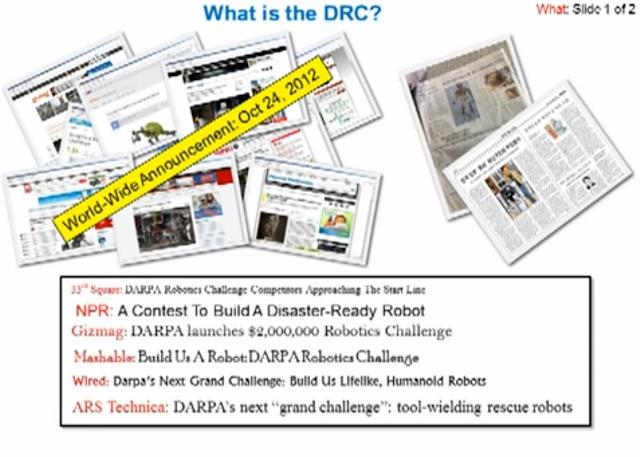 DARPA Robotics Challenge Slide