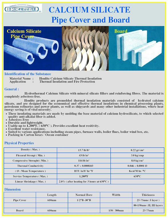 Calcium Silicate Pipe Cover : Grand harvest industrial corporation