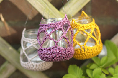 free crochet pattern jar cozy