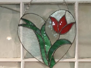 Flower Heart stained glass by craftsofpassion