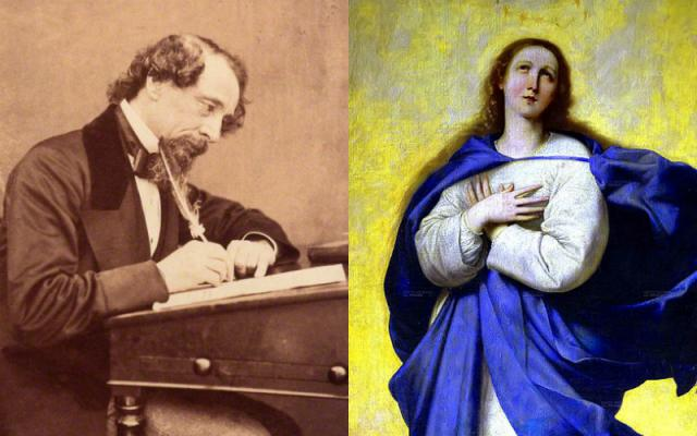 The Night Charles Dickens Was Visited By the Spirit of the Virgin Mary