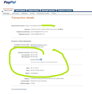 Paypal Transaction  details with Clixsense